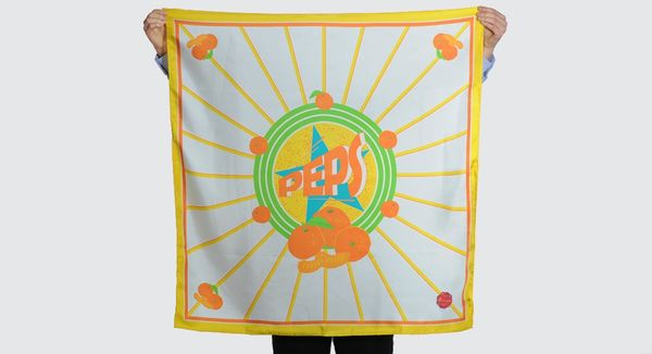 Sunny Citrus-Infused Scarves