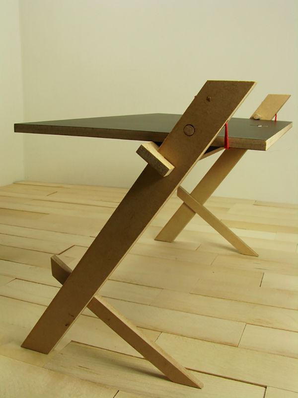Rope-Secured Desks
