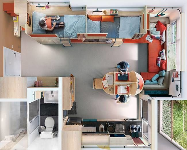 Modular Student Living Spaces