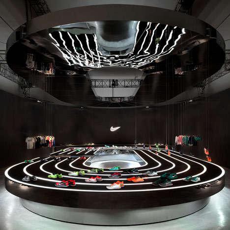 Futuristic Shoe Art Exhibits