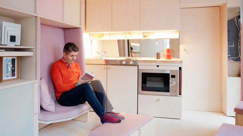 Sliding Modular Plywood Furnishings