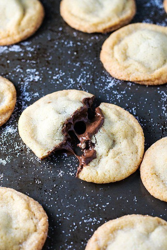 Chocolate Spread-Stuffed Cookies