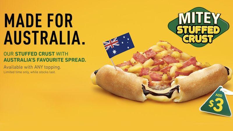 Aussie Spread-Stuffed Crusts