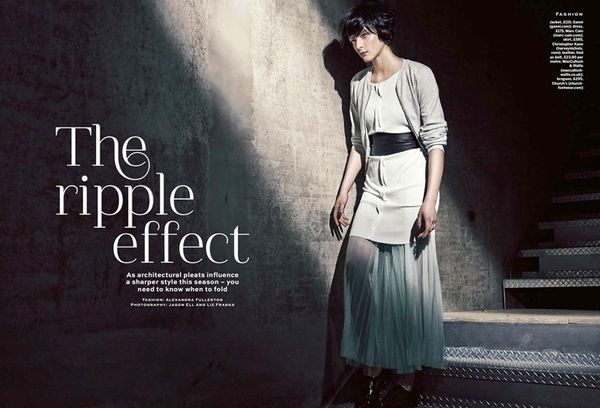 Pleated Fashion Editorials