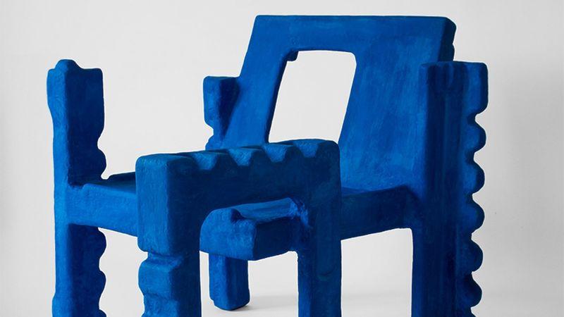Cobalt Blue Styrofoam Chairs