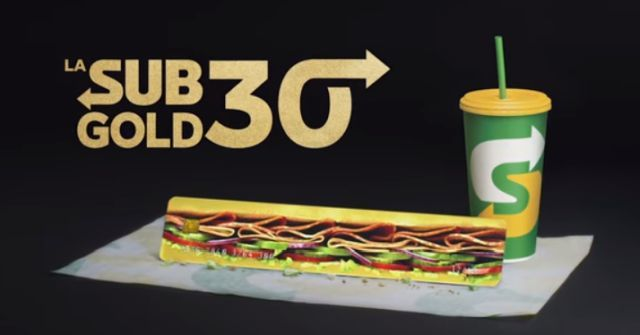 Sandwich Sized Gift Card Promotions Sub Gold 30