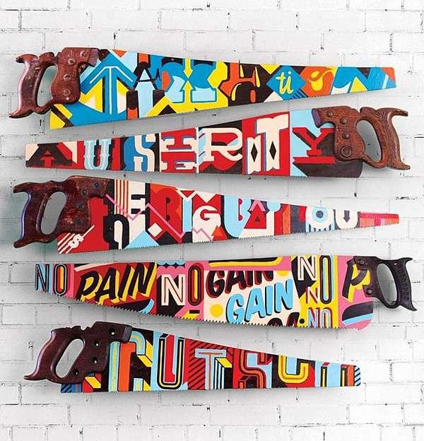 Handcrafted Typographic Handsaws