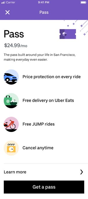 Ride Hailing Subscriptions