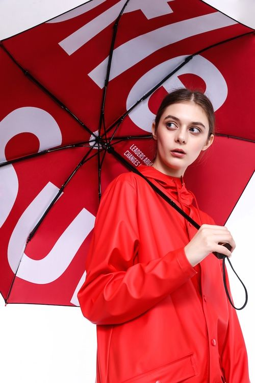Boldly Branded Rain Fashion