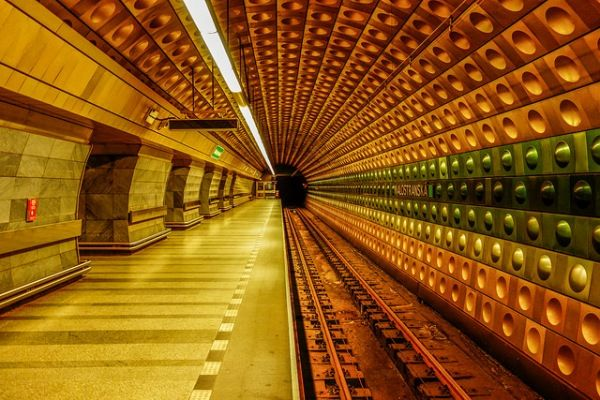 Symmetrical Subway Photography