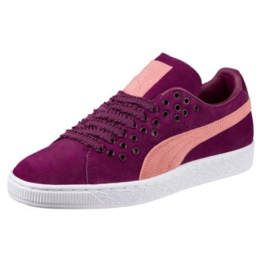 Perforated Suede Sneakers