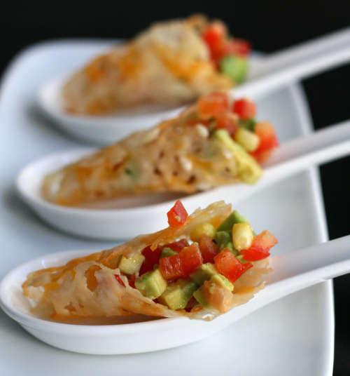 Veggie-Crammed Parmesan Cones