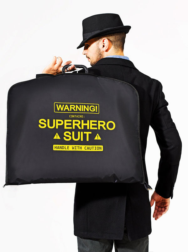 Sleek Superhero Suit Carriers