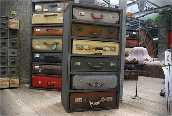 Vintage Luggage Cabinets