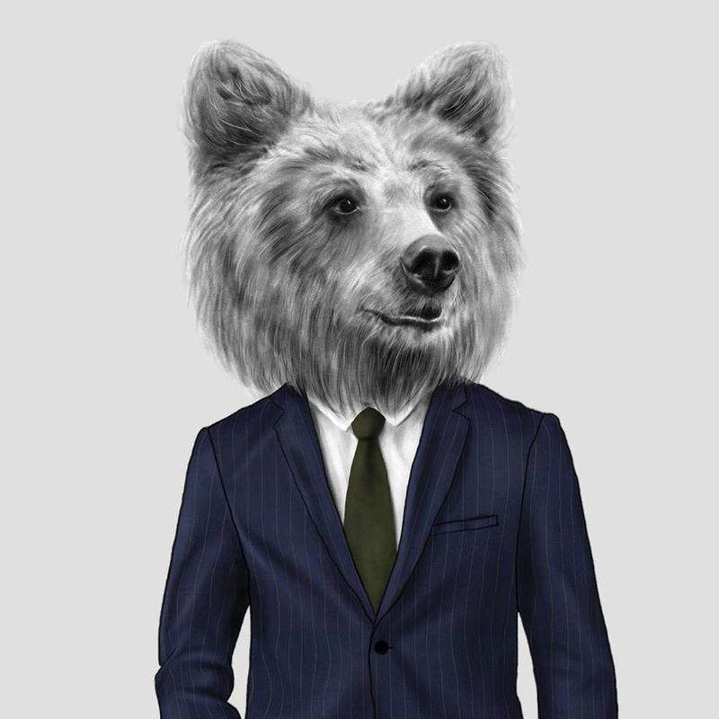 Playfully Suited Animal Illustrations