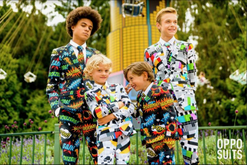 Vibrantly Patterned Formalwear