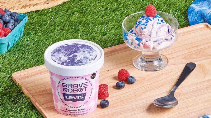 Swirled Berry Ice Creams