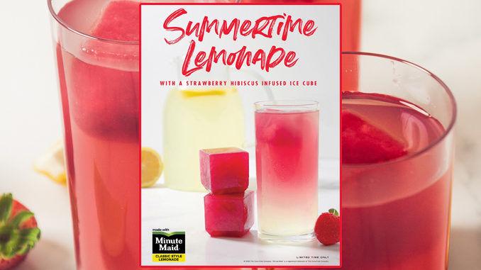 Hibiscus-Infused Ice Cube Lemonades