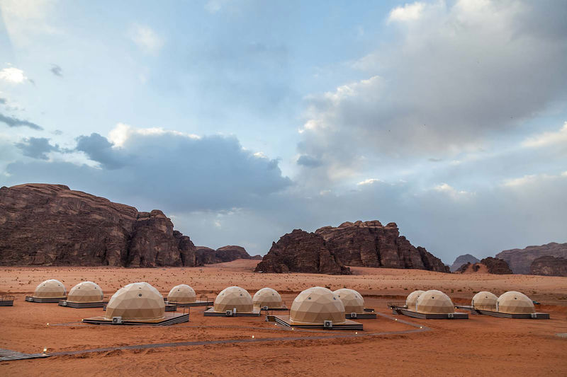 Mars-Inspired Camping Resorts