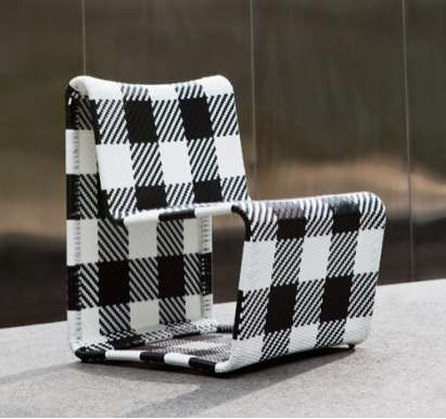 Gingham Patio Chairs
