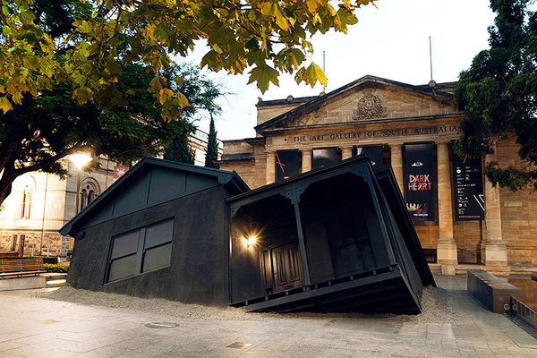 Sunken House Architectural Statues