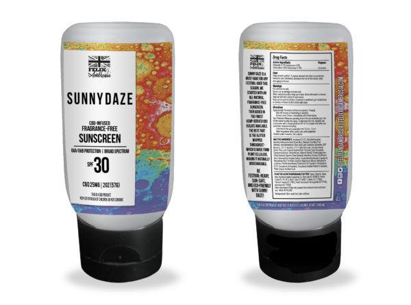 Glittering CBD Sunscreens