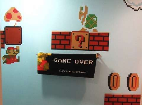 Geeky Washroom Decor Super Mario Bathroom