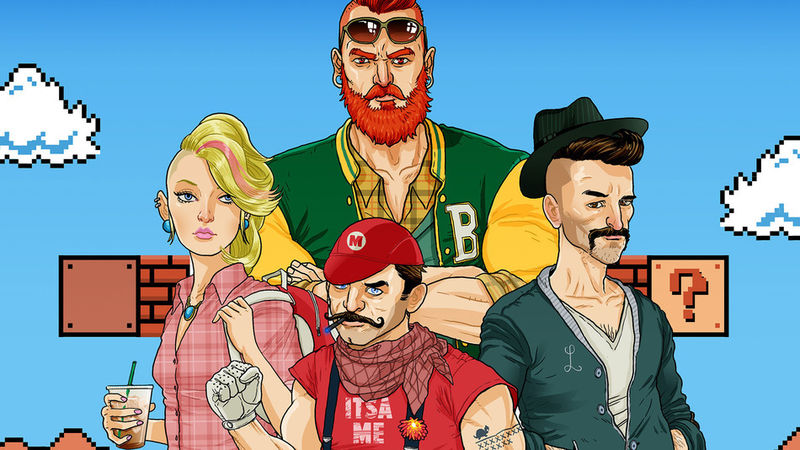 Hipster Video Game Characters