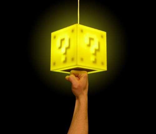 Interactive Gamer Lighting & Interactive Gamer Lighting : Super Mario Coin Block Pendant Lamp azcodes.com