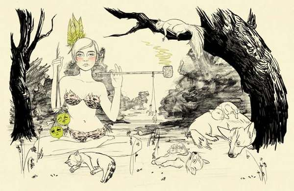 Forest Pin-Up Illustrations