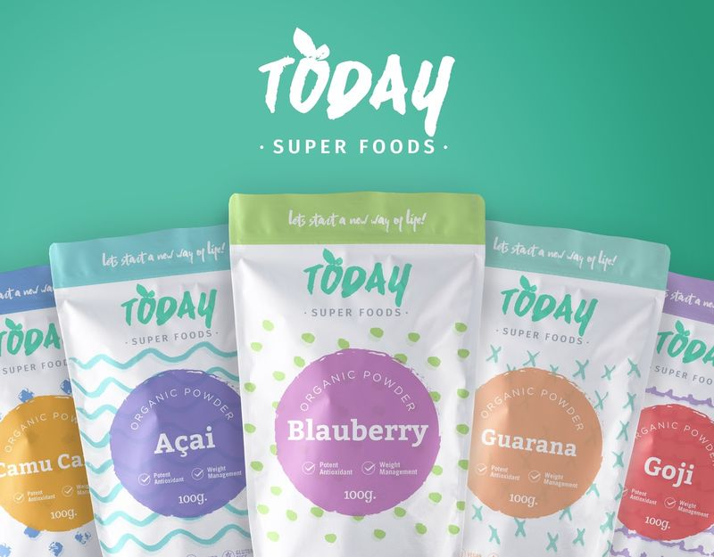 Colorful Superfood Branding