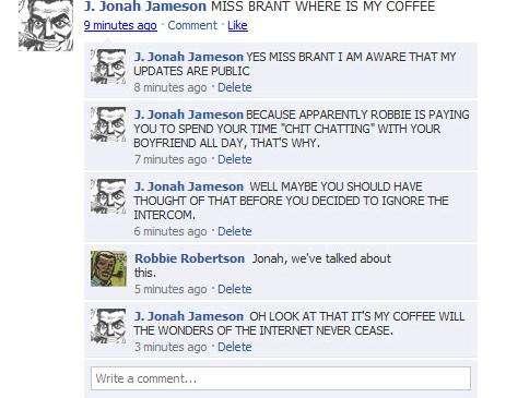 Superhero Facebook Statuses