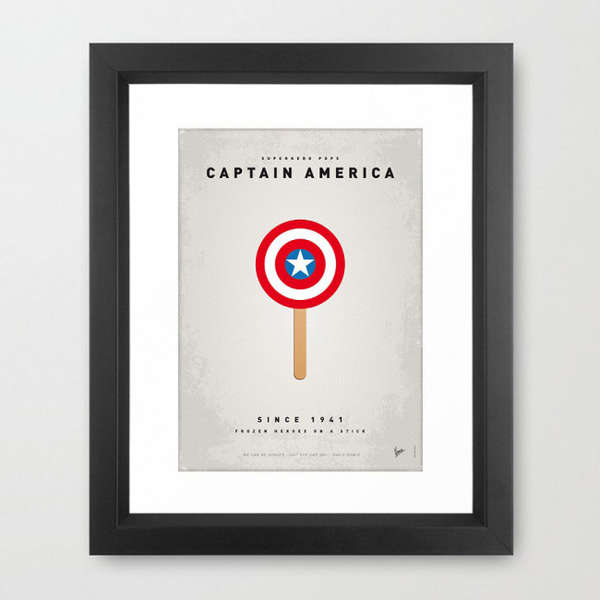 Superhero Ice Cream Posters
