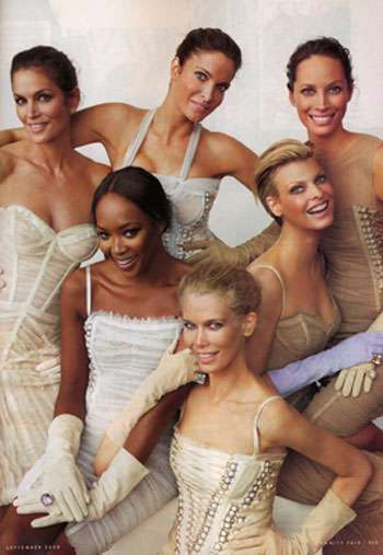 Original Supermodels in Today's Magazines