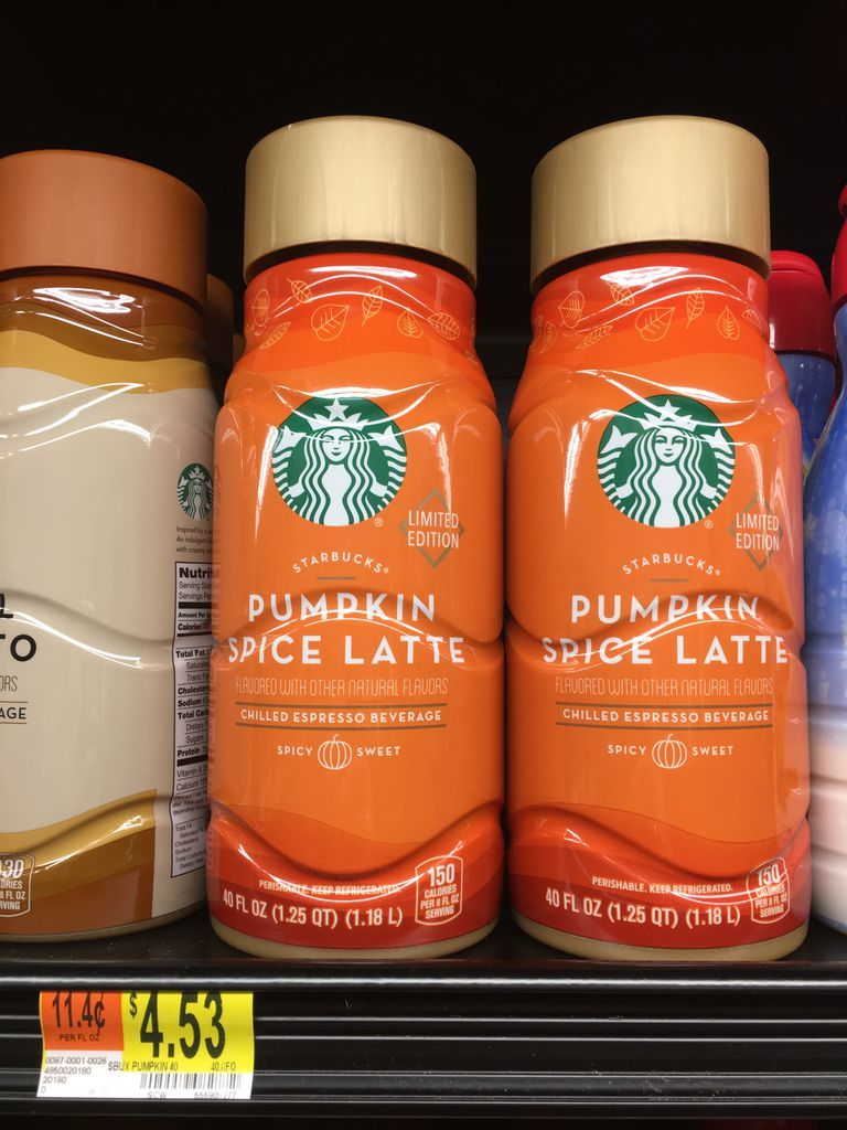 Walmart is selling 40-ounce bottles of Starbucks Pumpkin Spice Lattes for less than 5 recommend