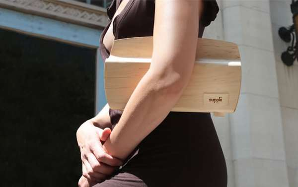 Curved Wooden Clutches