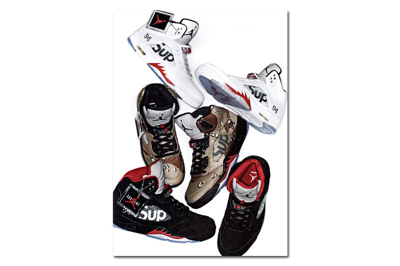 Iconic Crossover Sneakers Supreme X Air Jordan