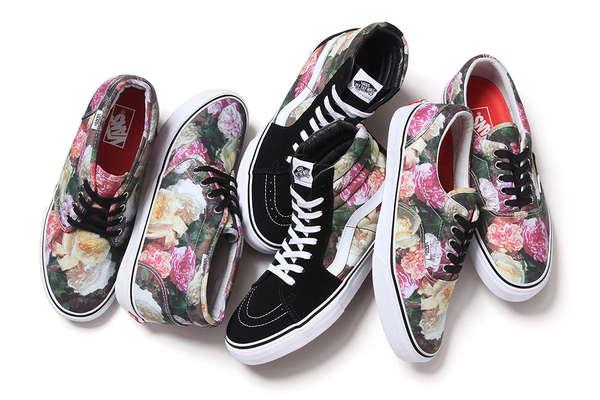 4810d22c6cd3af Floral Skater Shoes   Supreme x Vans SS13