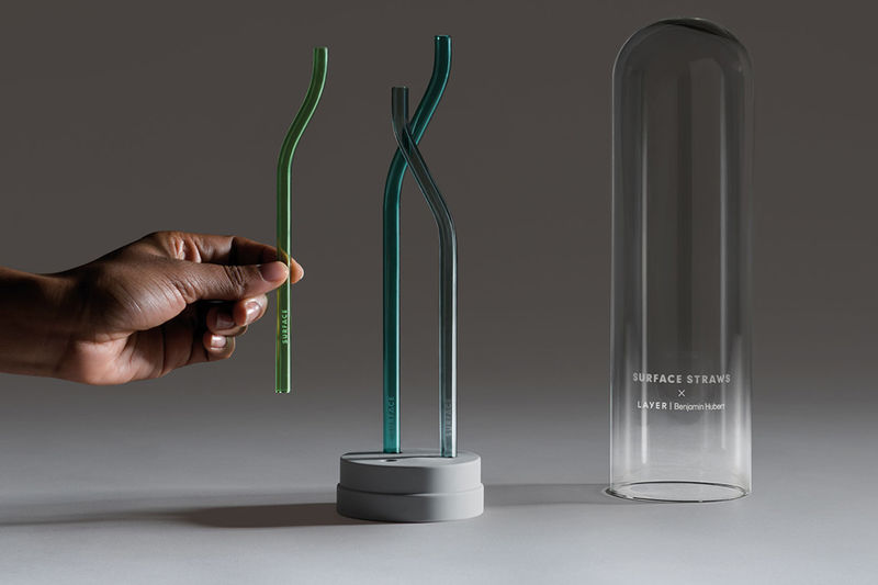 Recycled Glass Drinking Straws