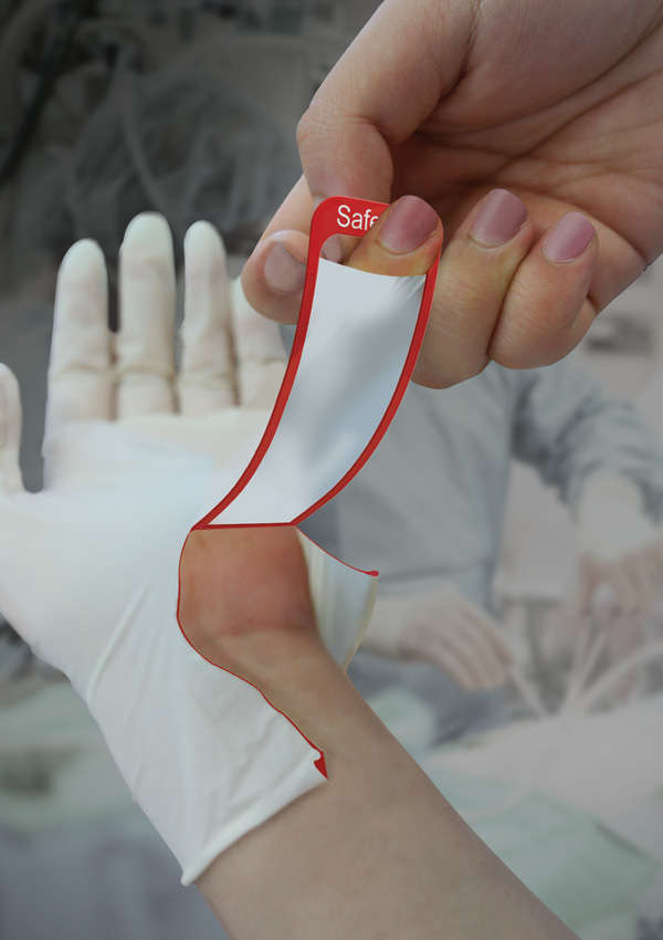 Self Destructing Gloves Surgical Glove