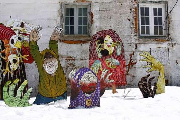 Mixed-Media Street Art