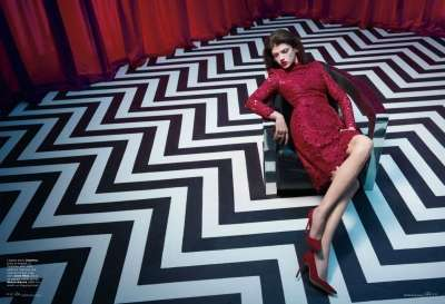Chic Dizzying Crimson Photography