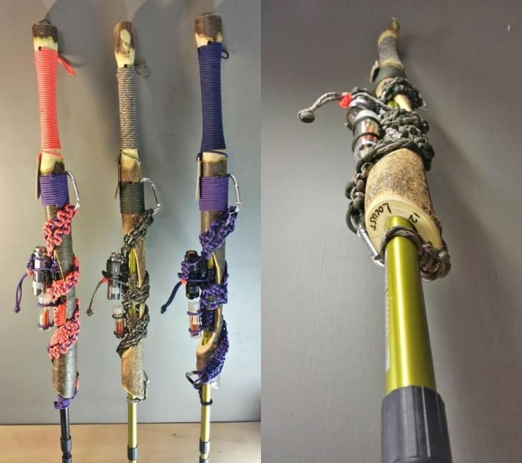 Survival Kit Walking Sticks