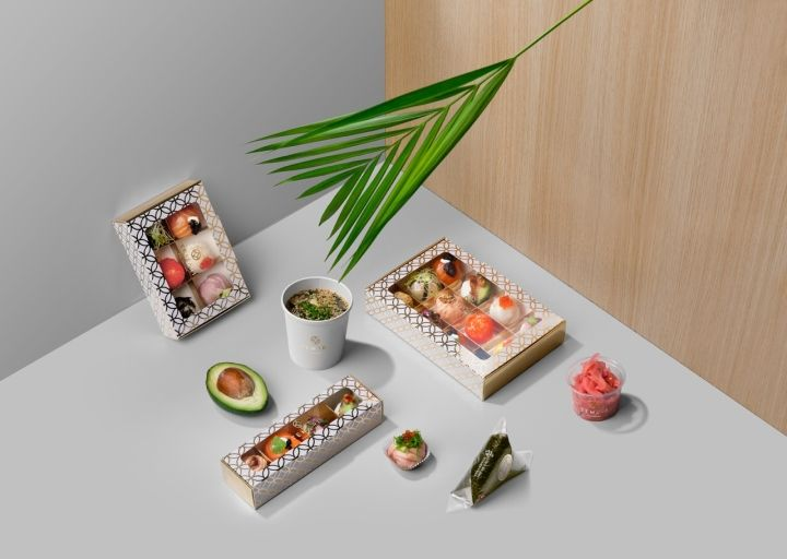 Monochromatic Sushi Branding