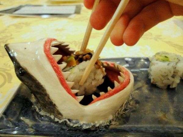 Shark-Inspired Sushi Servers