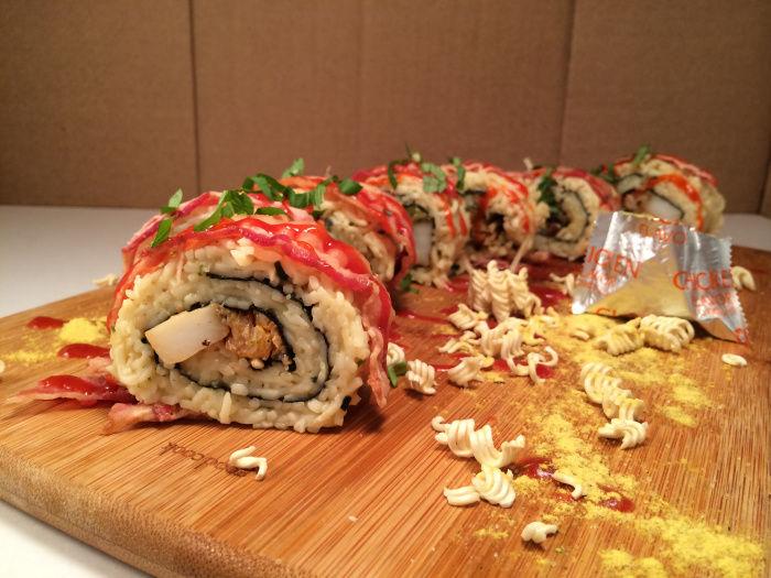 Ramen Sushi Rolls