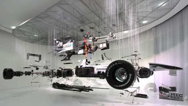 Deconstructed Racecar Displays