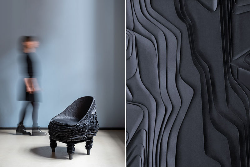 Layered Recycled Cardboard Furniture
