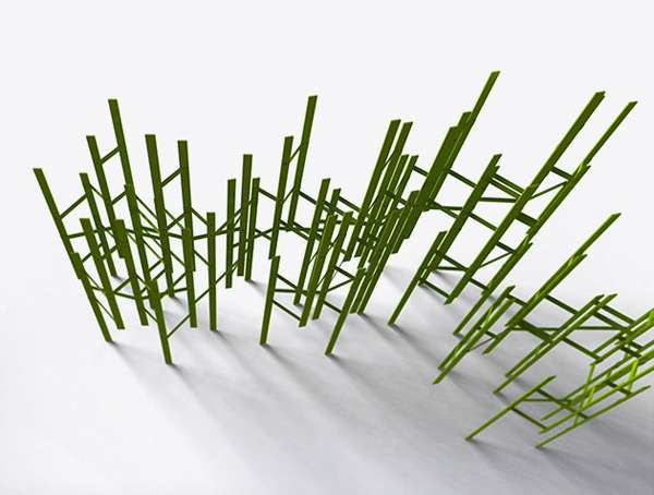 Stick-Like Room Dividers