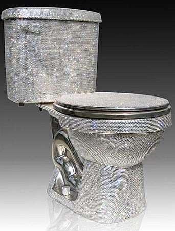 $75,000 Swarovski-Enrusted Toilet